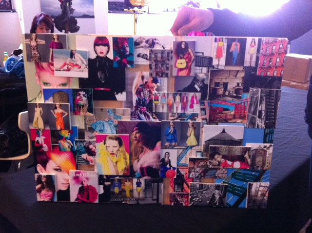 One of the mood boards for the shoot