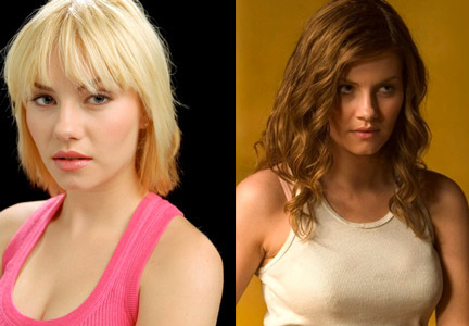 """Stotts worked on Elisha Cuthbert for her role in House of Wax (2005), which became one of her personal makeover magic moments. Stotts explained that Cuthbert still had her bleach blonde pixie cut for her role in the TV show 24, pictured left, and the House of Wax execs wanted her to have a longer 'do and a natural dirty blonde shade to differentiate her from co-star Paris Hilton. Stotts was given five hours to change the length and color of Cuthbert's hair with extensions and she claims it was one of those moments when even she exceeded her own expectations. """"It took 35 years of work to be able to pull that off in five hours,"""" Stotts said."""