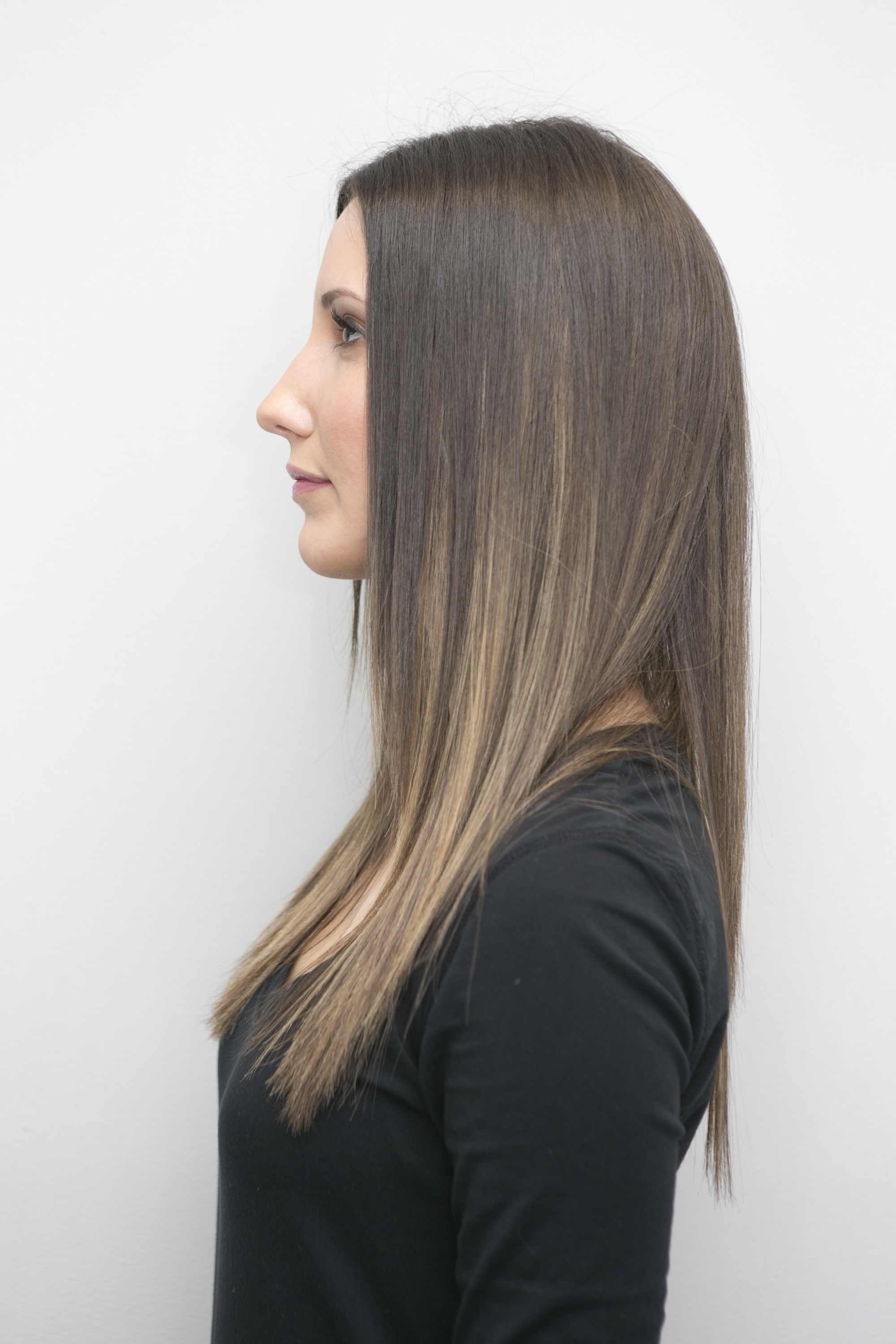 The balyage technique can be used to create ombré color effects.