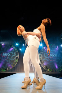 The Saco Academy London Team's models strike a pose!