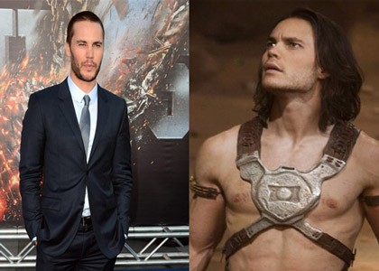 Taylor Kitsch's role in the TV show Friday Night Lights was memorable not only for his acting, but for his long locks as well. Yet after the series was cancelled, Kitsch cut his hair for his next role, Battleship (2012), pictured left. When shooting for Disney's John Carter (2012) began, they needed Kitsch's hair shoulder length for his warrior role, so Stotts came in and applied extensions to bring back his length (right).