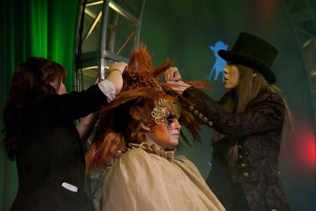 Lisa Yamasaki at work on the main stage.