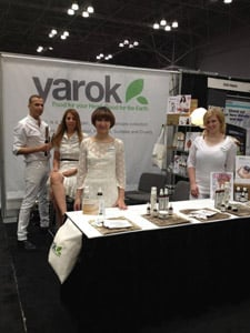 So excited to be exhibiting is Yarok, a 100% vegan hair care line. Company founder Mordechai Alvow was on-hand creating styles for his guests, while his staff excitedly stood by sharing information about the haircare line.