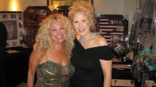 Cynthia Romo, stylist on ABC's Dancing with the Stars, and Marie Ferro.