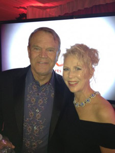 Five-time Grammy award winner Glen Campbell, who announced last year that he was living with Alzheimer's disease, with Marie Ferro.