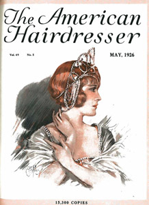 "The American Hairdresser sells the Bob Chart poster featuring illustrations by staff artist Mr. Charles B. Ross showing the hottest bob styles. Posters sell for $1.00.  Hair color company Dyart takes out an ad on special paper to showcase its completely safe and revolutionary hair color product. The company boasts that Dyart needs no ammonia or peroxide treatments to make the hair receptive to the action of the dye.  An ad from William R. Strehl warns readers that the Bob is ""losing its hold on the general public"" and suggests they stock up on hair pieces, including the company's Bob Wave piece for adding special waves and volume.  A special article celebrates the life and career of M. Marcel, the Master of the Wave.  Highlights the Third Annual Mid-West Trade Show and Exposition produced by the Chicago and Illinois Hairdressers' Association and held at the Sherman Hotel."