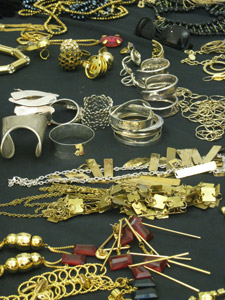 Complementing gold and silver jewelry was in no short supply at July's cover shoot.