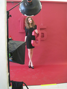 Model Elizaveta poses for the camera with the 135 to signify American Salon's 135th year in existence.