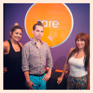 Fatima with part of the Rare team, Brandon and Vanessa.