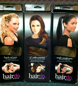 The new Hairdo packaging features QR codes that bring users to easy-follow mobile instructions on how to apply and care for the extensions and clip-ins.