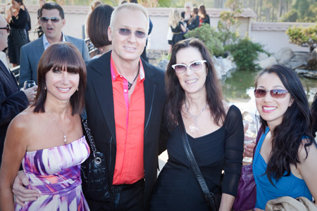 Wella Professional's Sonya and Christopher Dove flank Kay Lobetta and Wella Professional's Jessica Shih.