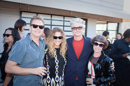 MENSDEPT.'s Rob Wilcox and Marta Rubenstein Harmon with P&G Salon Professional's Stephen Moody and his wife, Maria Moody.