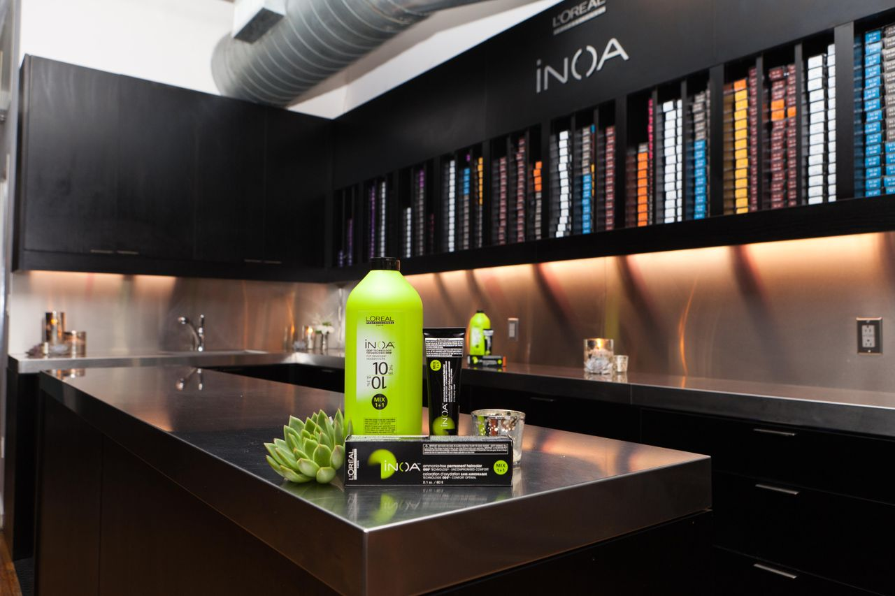 Ted Gibson Salon's cutting-edge INOA color bar