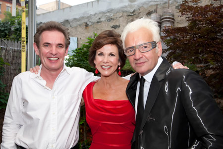 Brian and Sandra Smith snap a photo with renowned stylist Nicholas French.