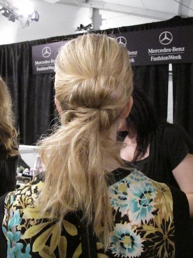 Finished hair look at Lela Rose
