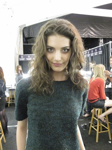 A finished curly look at Diane von Furstenberg