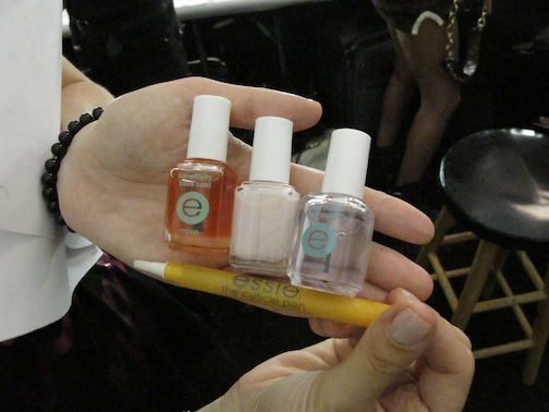 Essential Essie products at the show