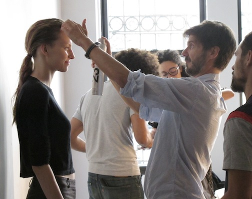 Redken Creative Consultant backstage at Reed Krakoff