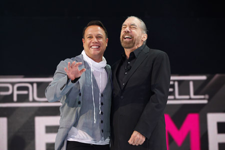 Angus Mitchell and John Paul DeJoria share a laugh.