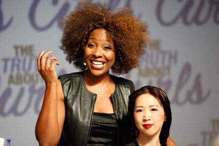 LaDonna Dryer showcases her styling talents on stage.