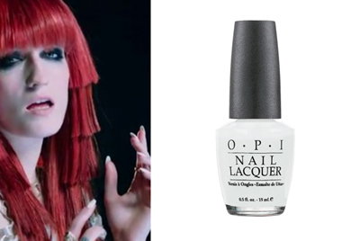 """This Florence + the Machine singer got edgy in OPI's Alpine Snow for the band's """"Spectrum"""" music video."""