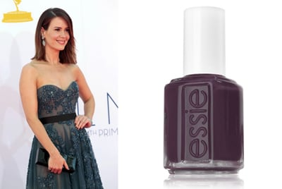 The American Horror Story star flaunted jewel tones at the 64th Annual Primetime Emmy Awards last year, sporting deep plum nails to accent her blue Reem Acra gown.