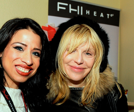 Singer/Actress Courtney Love visits FHI Heat.