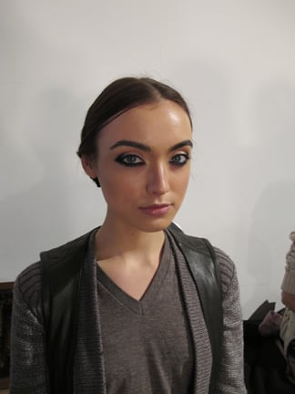 The makeup look by Polly Osmond for M.A.C