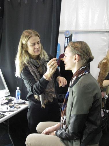 Lead makeup artist Diane Kendal for M.A.C