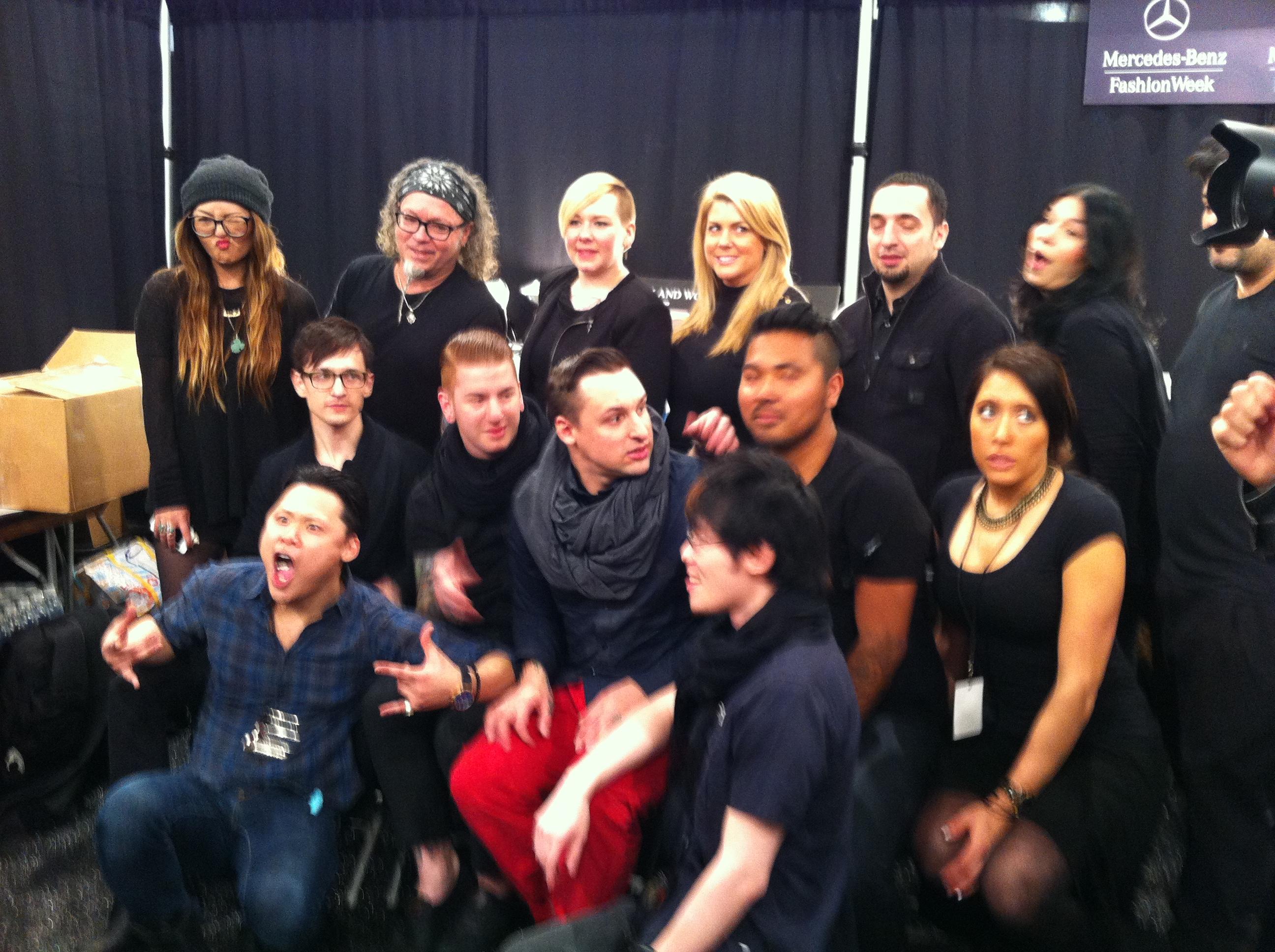 The L'Oréal Professionnel hair team backstage