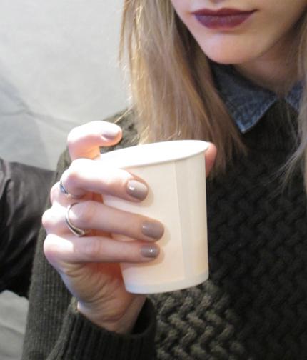 Lavendar-gray nails by Jin Soon Choi at Vera Wang