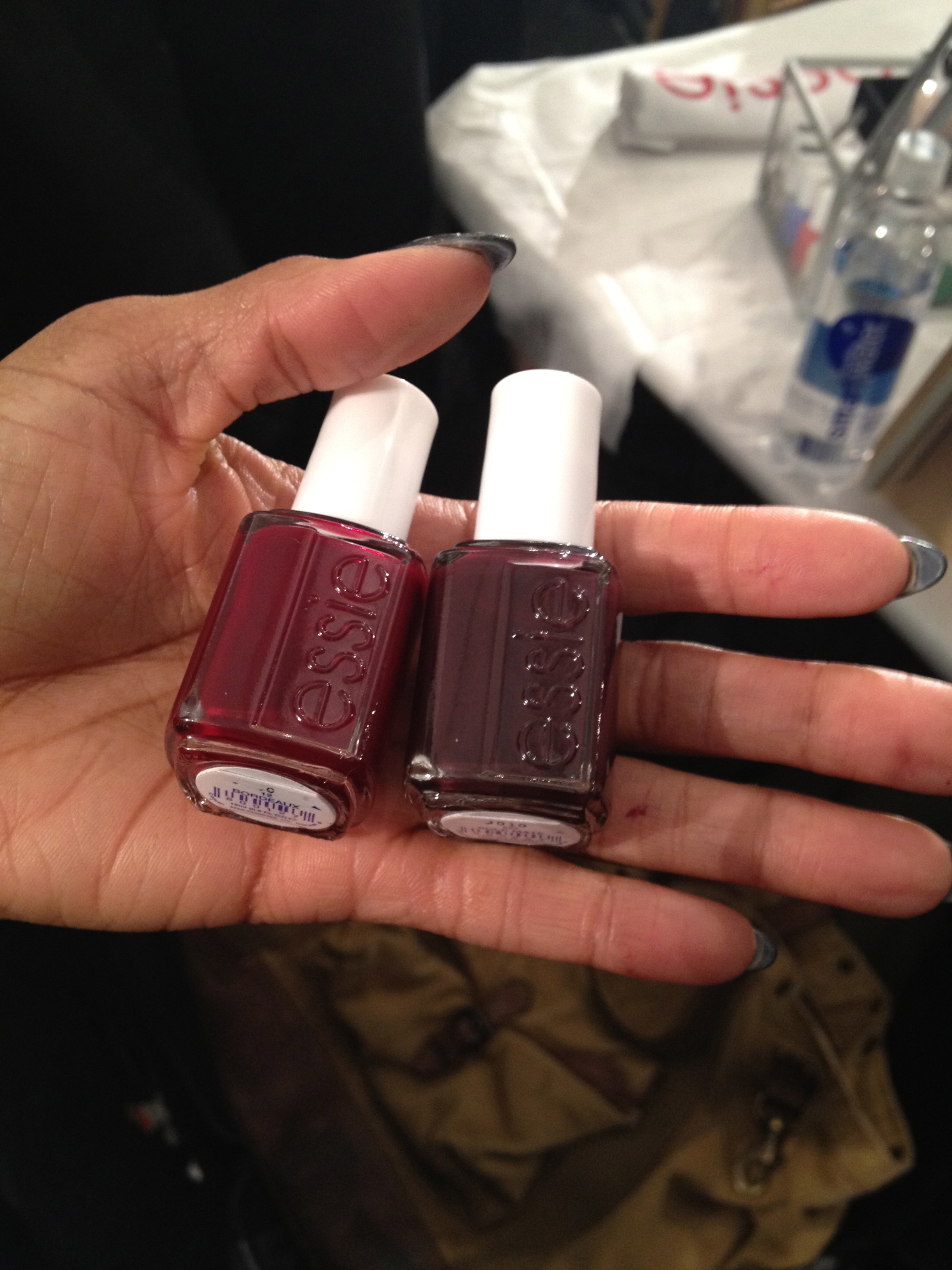 Essie Bordeaux and Sole Mate for mani pedi.
