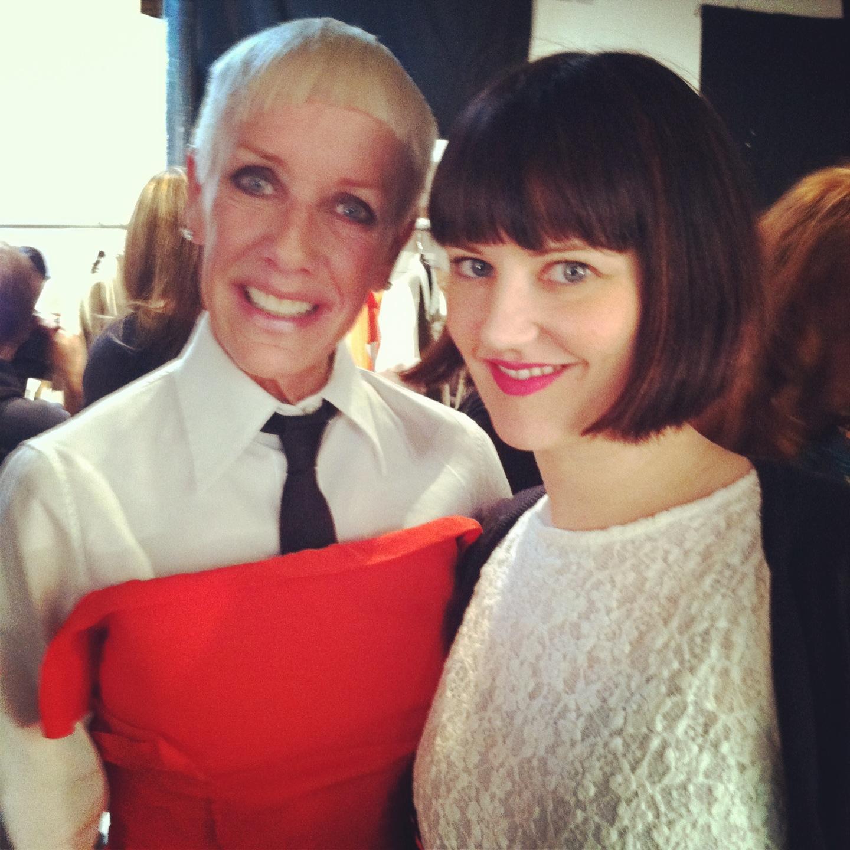 Jan Arnold with American Salon Senior Editor Jolene Turner