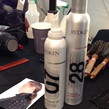 Guido's key Redken products for wet-look.