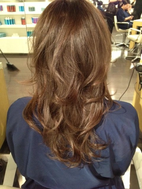 Shiny hair after treatment