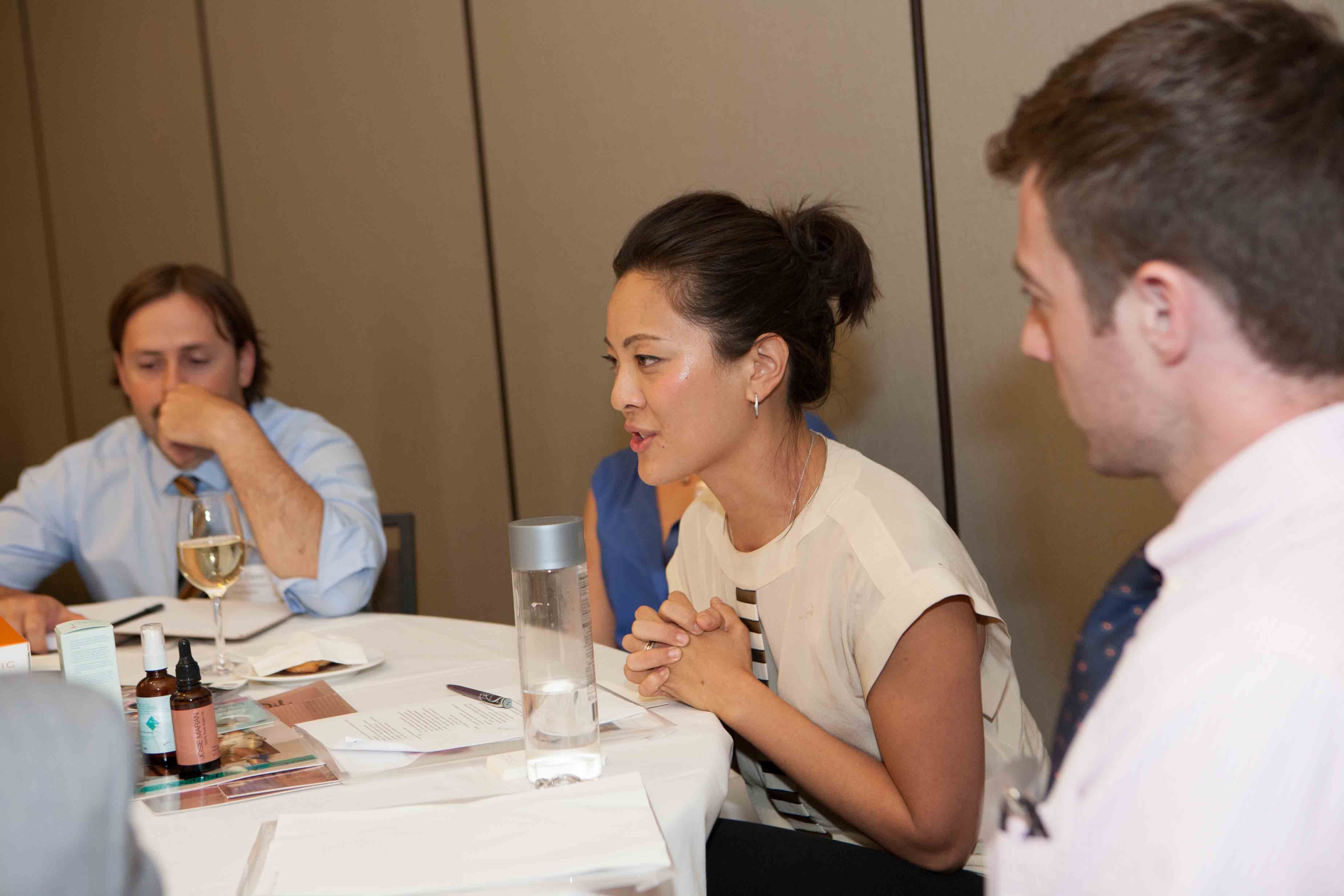 Amy Liu (VP of Marketing for Josie Maran Cosmetics) at her BBR9 Roundtable