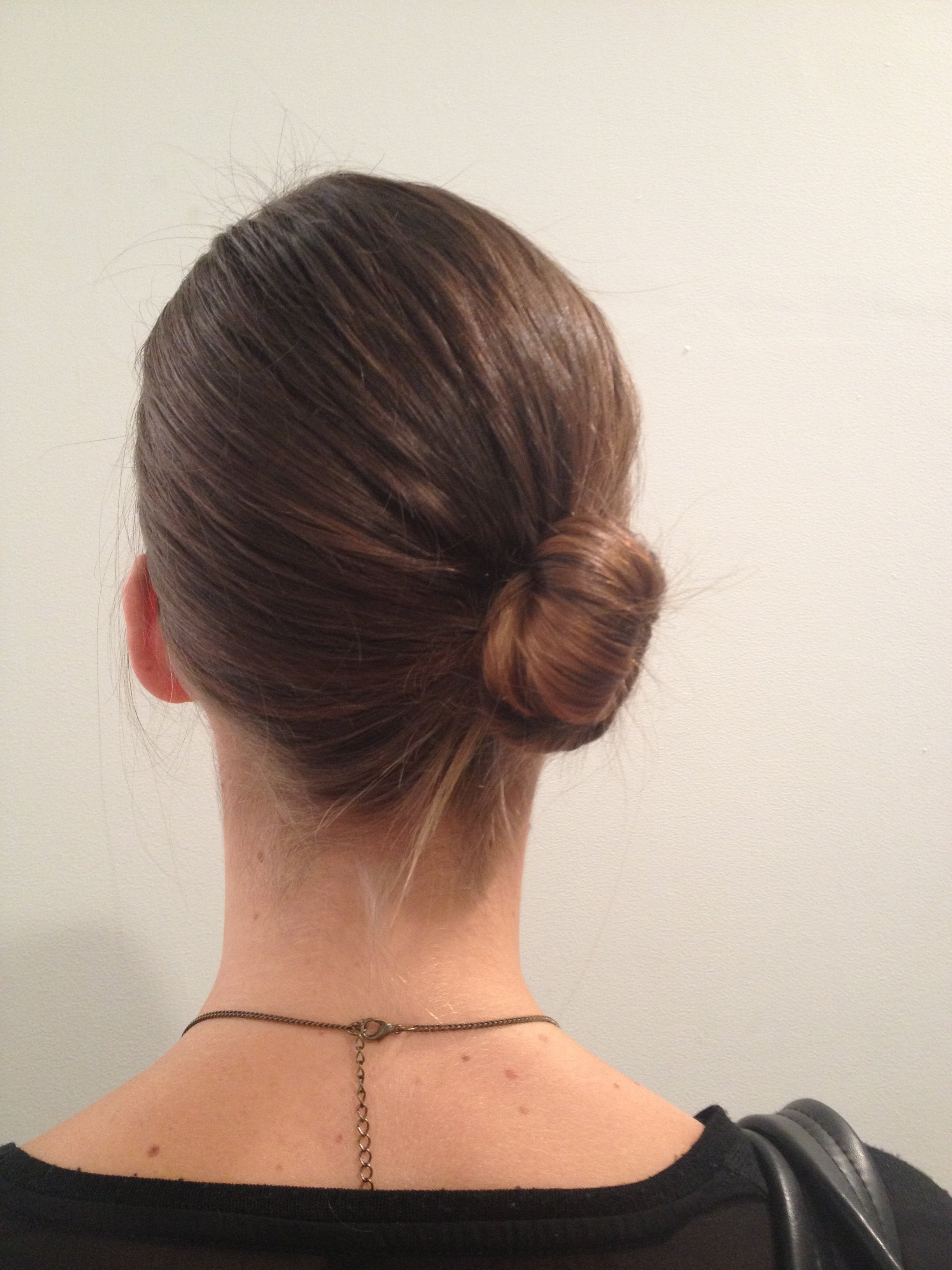 Low chignon from back