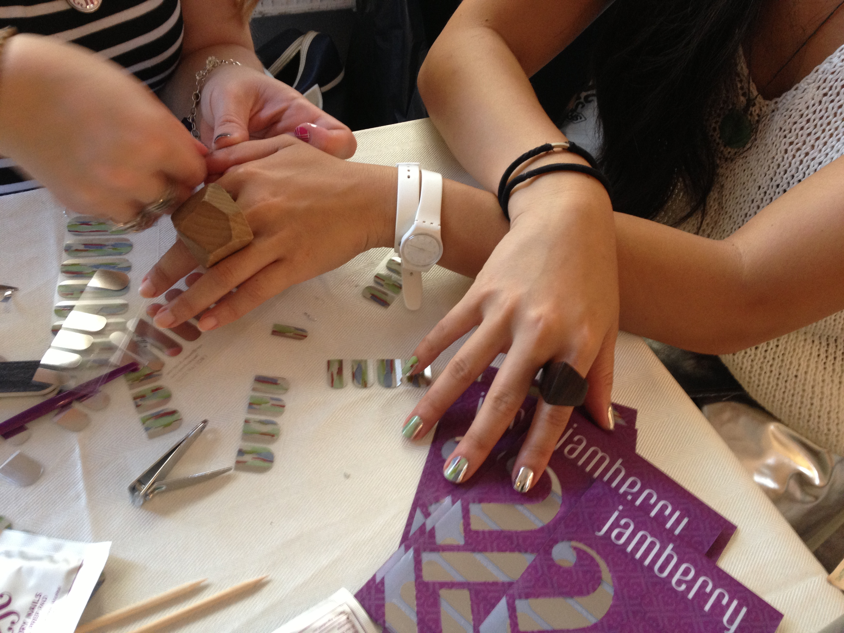 Jamberry created nail art based on one of Ann Yee's designs.