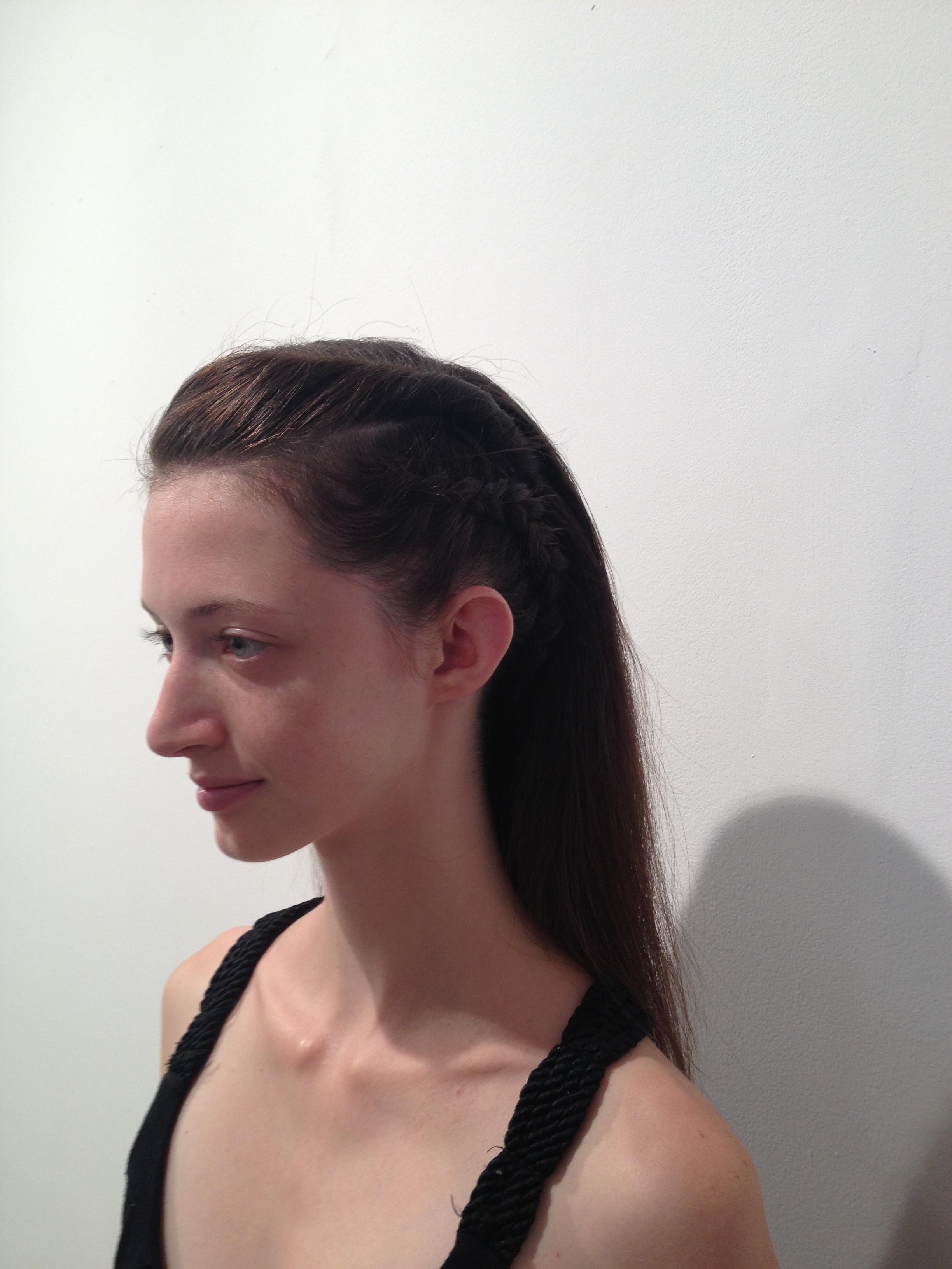 Final hair look, side