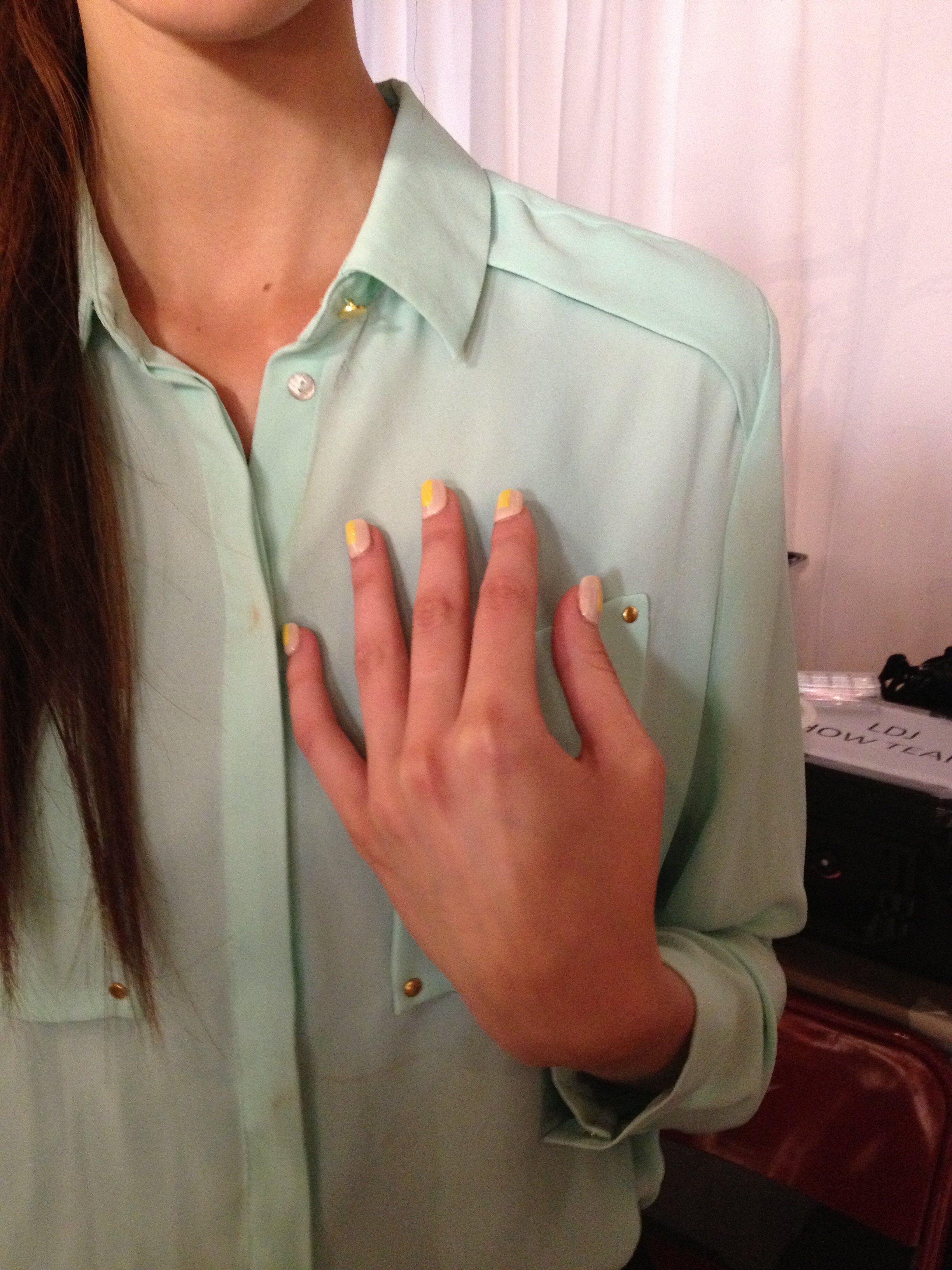 A pop of color on nails by Red Carpet Manicure