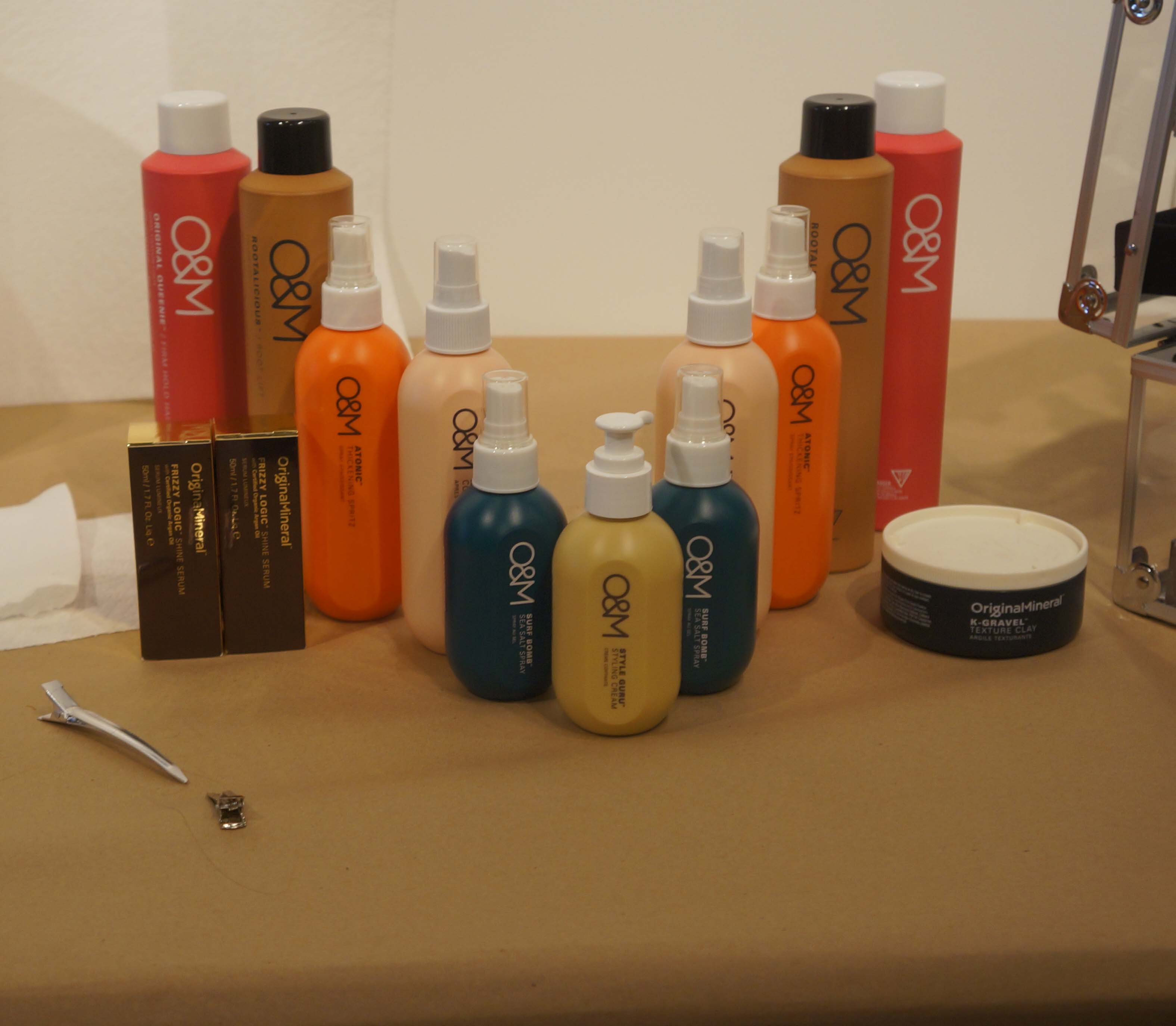 Original Mineral products used to create the hair for the show