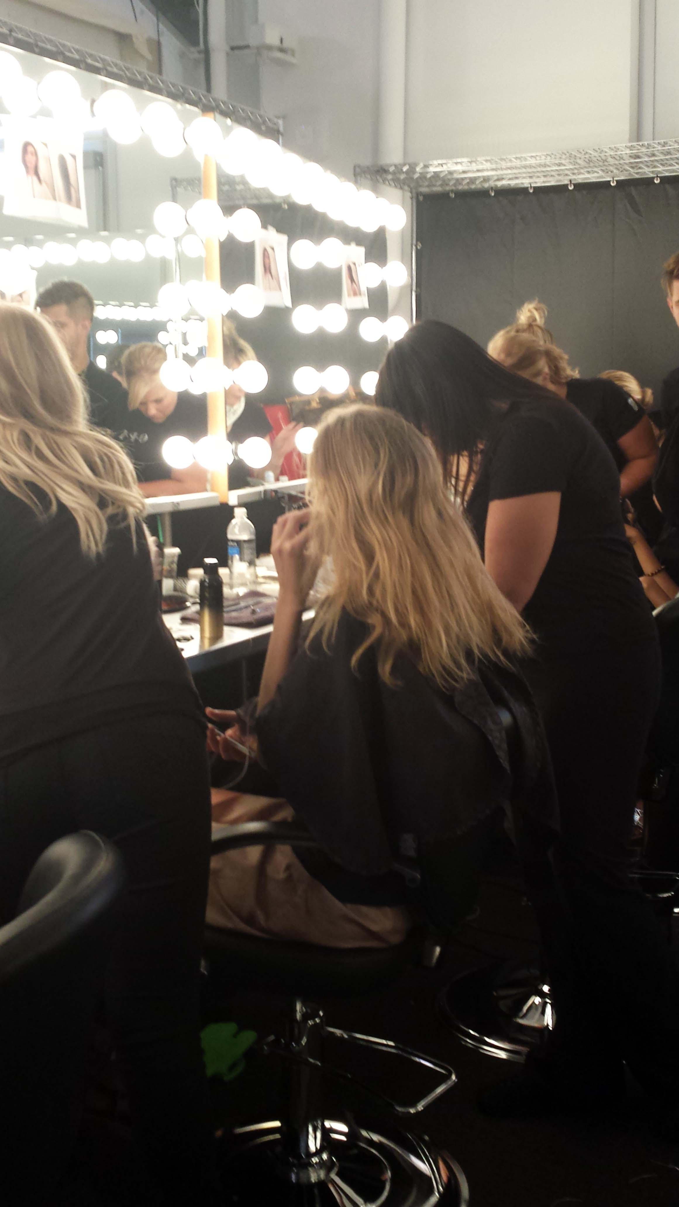 The hair was prepped with Oribe Foundation Mist and Oribe Après Beach for added texture.