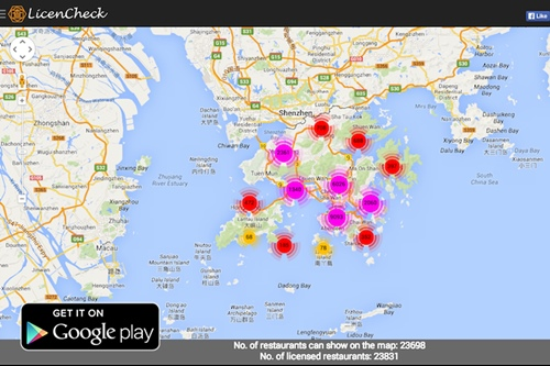 LicenCheck -- a searchable interface to locate all licensed restaurants in HK
