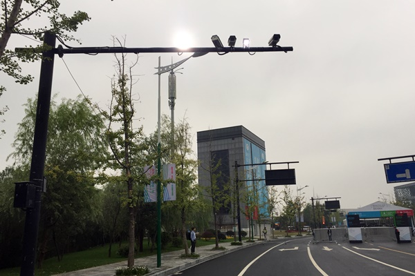 One of the 50,000 roadside surveillance cameras in Hangzhou