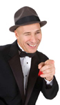 Sinatra impersonator Mike Dutra