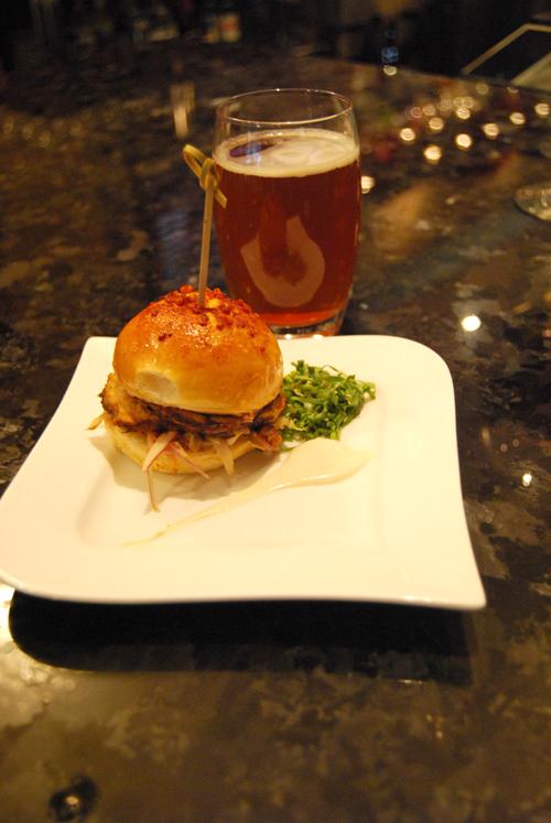 Bar food and beer