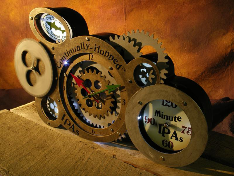 Dogfish Head Back Bar Clock