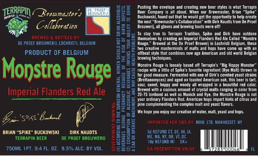 Monstre Rouge beer label