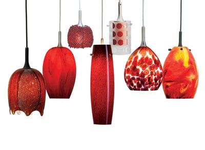 Nora Radiant Red Pendants