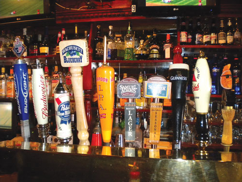 Dedham Massachusetts Halfway Cafe beer taps